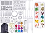 DIY Bracelet Pendant Jewelry Silicone Mold UV Crystal Clear Glue Curing Set Epoxy Resin Casting Dyeware Dried Flower Jewelry