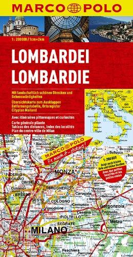 MARCO POLO Karten 1:200.000: MARCO POLO Karte Lombardei 1:200.000: Oberitalienische Seen