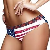 TIZORAX Grunge - Braguitas para mujer, diseño de bandera americana