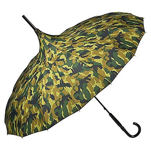 VON LILIENFELD Regenschirm Mode Damen Sonnenschirm Pagode Cécile, Camouflage