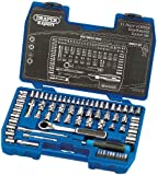 Draper Expert 71244 71-Piece Metric/AF Vortex and 1/4-Inch and 3/8-Inch Square Drive Gear-Ratchet Combined Socket Set