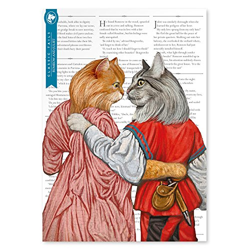Romeow and Juliet Beautifully Illustrated Poster Print