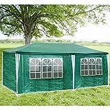 Hengda® 3x 6m XXL di alta qualità tende a gazebo PE padiglione Stabile Impermeabile Party Giardino Tenda con 6pagine rimovibili, Verde