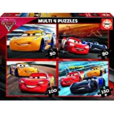 Cars - Set 4 puzzles progresivos de 50, 80, 100 y 150 piezas (Educa Borrás 17179)