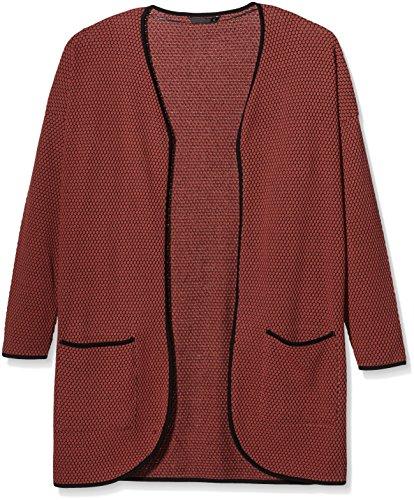 ONLY Damen Strickjacke 15103845, Gr. 36 (Herstellergröße: S), Rot (Marsala)