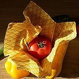 PACK von 5 Öko-Packs (S, S, M, L, XL) | Bees wrap, Eco-Verpackung gelbe Sonne | Null Verschwendung
