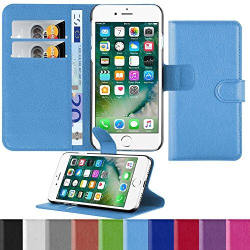"HANDYPELLE Premium Hülle kompatibel mit Apple iPhone 7 (4,7\"" / 11,9cm) in Blau"