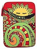 PUNCHCASE Ace Daydreaming - Funda de cremallera con dibujo de sol, color rojo (sirve para Kindle Paperwhite, Kindle y Kindle Touch)