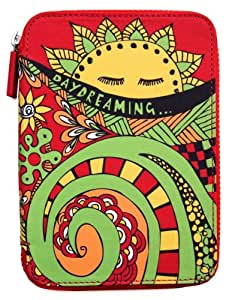 PUNCHCASE Ace Hülle mit Reißverschluss, rot mit Daydreaming-Motiv  [nur geeignet für Kindle Paperwhite, Kindle (5. Generation), Kindle Touch (4. Generation), Kindle (7. Generation)]