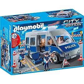 PLAYMOBIL-9236-Polizeibus-mit-Straensperre