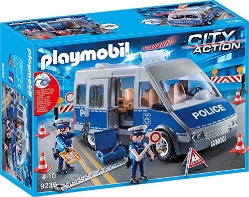 Playmobil 9236 - Polizeibus mit Straßensperre