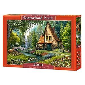 CASTORLAND Toadstool Cottage 2000 pcs Puzzle - Rompecabezas (Puzzle Rompecabezas, Paisaje, Niños y Adultos, Niño/niña, 9 año(s), Interior)