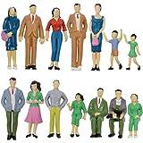 50Pcs Maßstab 1//87 Farbe Menschen Modell Mini Modelle Stehende Menschen für