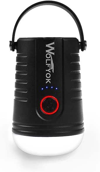 Yygift/® /étanche Pour ext/érieur Lanterne de camping portable LED avec t/él/écommande rechargeable via USB