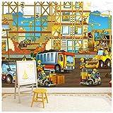 azutura Baustelle Fototapete Truck Digger Tapete Jungen Schlafzimmer Dekor Erhältlich in 8 Größen Riesig Digital