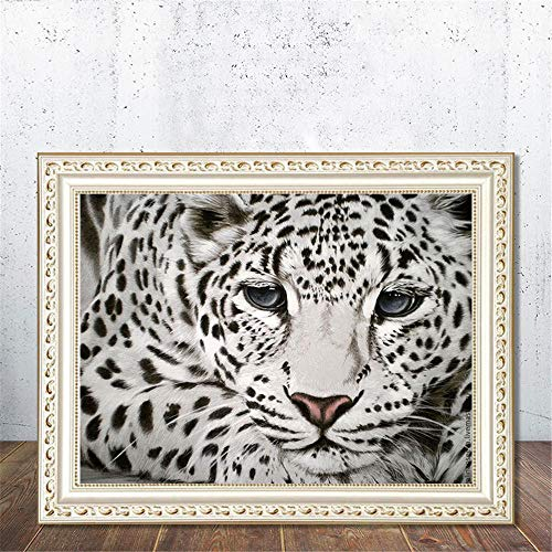 Luuruu DIY 5D Diamant Painting Crystal Strass Stickerei Diamant Stickerei Malerei Decor gemälde Kreuzstich Dekoration Leopard 30 * 40cm -