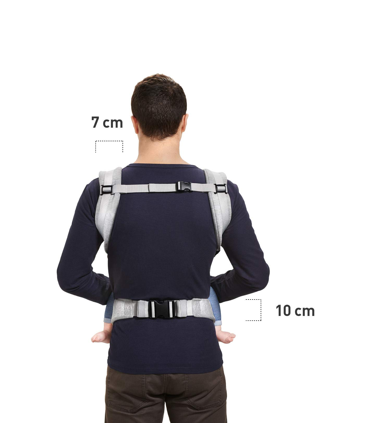 kk Kinderkraft Milo Ergonomic Baby Carrier Front Gray kk KinderKraft Ergonomic baby carrier for children aged from 3 months up to 20 kg Two baby carrying positions: on the stomach and on the back Rubber bands so that the belt ends do not hang 10