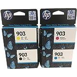 Original Cartouches d'imprimante pour HP officejet 6950, HP Officejet Pro 6960/6968/6978 avec Stylo à bille - Multipack (4)
