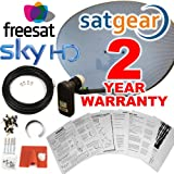 6143T9sU bL. SL160  - BEST BUY #1 Satgear Sky/Freesat Zone 2 60cm HD Satellite Dish Kit with Brackets, Quad LNB, 20m Single RG6 Cable and Fixings Reviews and price compare uk