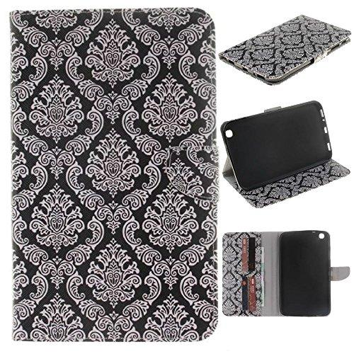 Skytar Samsung Galaxy Tab 3 8 Zoll Hülle Case - Slim Case Cover PU Leder Brieftasche Schutzhülle für Samsung Galaxy Tab 3 8.0 Zoll SM-T310 T311 T315 Tablet Hülle mit Support-Funktion,Totem-Blume (Tab Samsung Für 3 Cover Zoll 8)