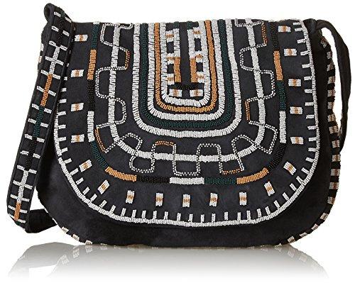 Antik Batik Otto, Borsa a spalla donna , Nero (Black (nero)), Taille Unique