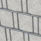 Venezia (hellgrau) - Design Vlies Sichtschutz Streifen für Doppelstabmattenzaun - PVC frei