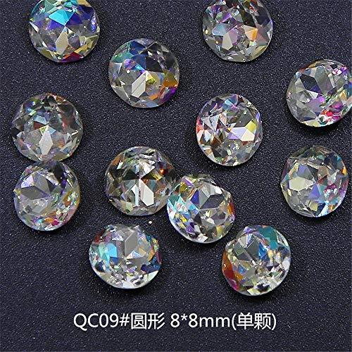 Strass,Diamant De Forme Stéréo Stéréo Diamond Ongle De Mariée De Mode Simple Et Élégant, Qc09# 8X8Mm / Single