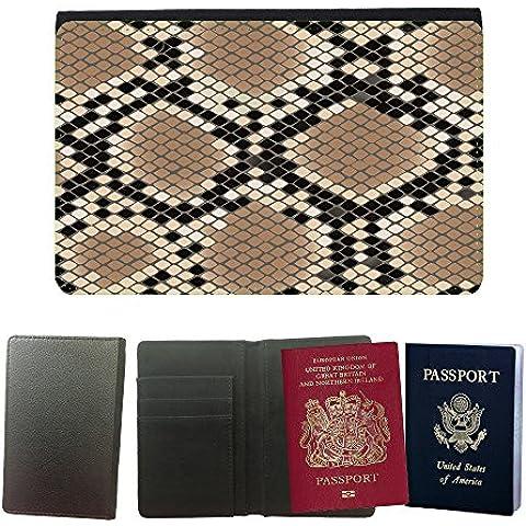PU Funda para pasaporte // V00002745 pelle modello del serpente Losanga // Universal passport leather cover