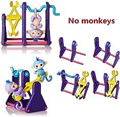 Ruiting Fingerling interaktives Baby Monkey PET Toy Klettern Spielset Rahmen Klettern Stand Wippe Schaukel Set (Monkey ist Nicht enthalten) Haushaltsgegenstände