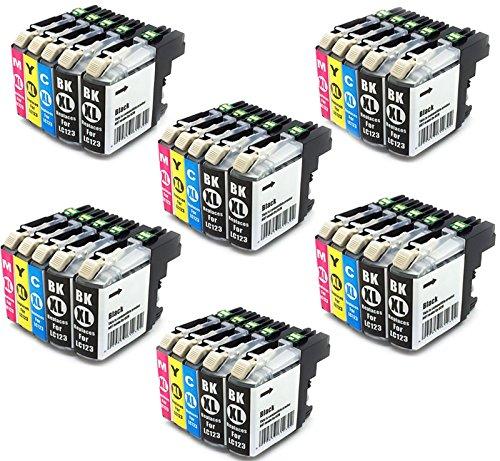 Preisvergleich Produktbild 30x Tinte Patronen Druckerpatronen für Brother DCP-J552DW MFC-J470DW MFC-J650DW MFC-J870DW DCP-J132W DCP-J152W DCP-J172W DCP-J752DW DCP-J4110DW MFC-J245 MFC-J4410DW MFC-J4510DW MFC-J4610DW MFC-J4710DW MFC-J6520DW MFC-J6720DW MFC-J6920DW kompatibel zu BROTHER LC123BK LC123C LC123M LC123Y