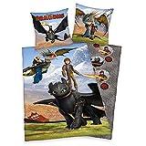 Whitehouse Wende Bettwäsche Drachen   Baumwolle 135 x 200 cm   DreamWorks Dragons