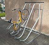 Schräghochparker SF 4, für 4 Fahrräder, einseitig zur Freiaufstellung, verzinkt