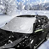 PowerTiger Frontscheibenabdeckung Auto Scheibenabdeckung Windschutzscheibe Abdeckung Frontscheibe Frostabdeckung Schneeabdeckung EIS Schutzfolie Sonnenschutz Größe 190 * 125 cm geeignet für SUV