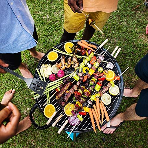 6143qLzXHTL - Tencoz Grillbesteck, BBQ Grillzubehör 20 Set, Barbecue Grillen Werkzeuge Koffer aus Edelstahl mit Wärmeisolierende Griff Ideal für Outdoor Familien Garten Party