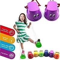 Daxoon Trampoli da vasino per Bambini 2 Paia di trampoli a Tazza per Giocattoli per l'allenamento dell'equilibrio…