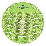Pantalla De Orinal & Desodorizante (10 unidades) 3.0 Estera De Urinario Verde Manzana por Uri-Fresh (Manzana)