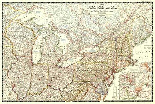 Reproduktion eines Poster Präsentation-North America-Region der Großen Seen (1953)-61x 81,3cm Poster Prints Online kaufen