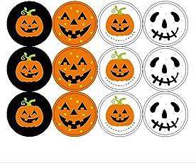 240Pcs Halloween Pumpkin Stickers Embellishments DIY Craft Kit for Kids Card Making Scrapbooking Decoration Halloween Christmas Birthday Gift for Children