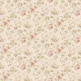 MyTinyWorld Paquet de 5 Maison de Poupées Rose Foncé Assortiment Motif Fleuri Papier Peint Feuilles