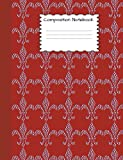 Composition Notebook: Fleur de lis Graph Paper Book to write in for school, take notes, for kids, french students, french teachers, homeschool, French Flag