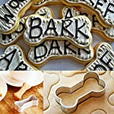 Dog Bone Biscuit Cookie Cutters Stainless Steel for Homemade Treats Cookie Cutter Set- 3 Various Size - Large/5.4 Inches, Medium/4.6 Inches, Small/3.9 Inches by Amison