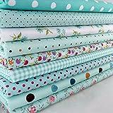 9 Stück Baumwollstoff Tuchbündel Textilien Patchwork
