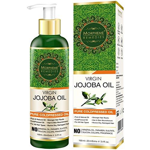 Morpheme Pure Virgin Golden Jojoba Oil (ColdPressed) For Hair, Body, Skin Care 120ml