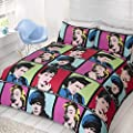 Double Duvet Cover & Pillowcases Bedding Bed Set - Marilyn Monroe Audrey Hepburn James Dean Marlon Brando