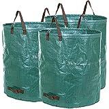Songmics Bolsas para desechos de jardín Saco para residuos 3 unidades 272L Verde GTS272L