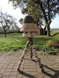 Vogelhaus mit Reetdach Futterhaus Futterstation -74 cm- traditionell eingedeckt