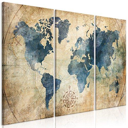 Murando   Cuadro Mapa Mundo 90x60 cm   impresión