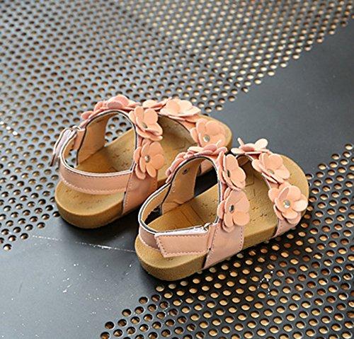 Scothen Bébés filles Sandales chaussures à lanières d'été décontractée sandales chaussures plage sandales romaines chaussures de princesse flip-flop Walker sandales chaussures espadrilles de ballerine Rose