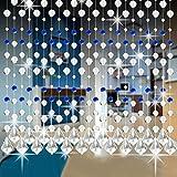 Kristallglas Perlen Vorhang Luxus Wohnzimmer Schlafzimmer Fenster Tür Hochzeit Dekor Hansee (A)