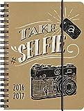 Brunnen 107297517 Schülerkalender/Schüler-Tagebuch (1 Seite = 1 Tag, 12x16cm (A6), Einband Recyclingleder Kamera, Kalendarium 2016/2017)